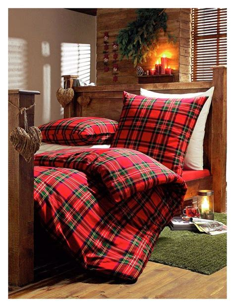 plaid bed time bedding style tartan tweed argyle
