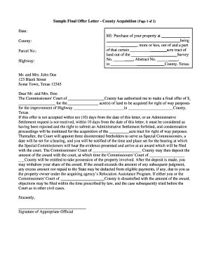 real estate offer letter template forms fillable printable