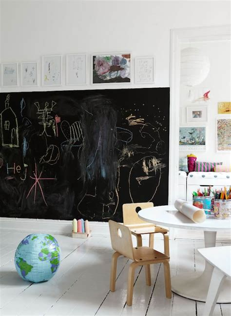 trends playroom chalkboard wall trend comes to modern homes 38