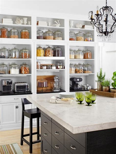 Kitchen Shelves And Cupboards Open Kitchen Shelving Display Tips Home Decorating