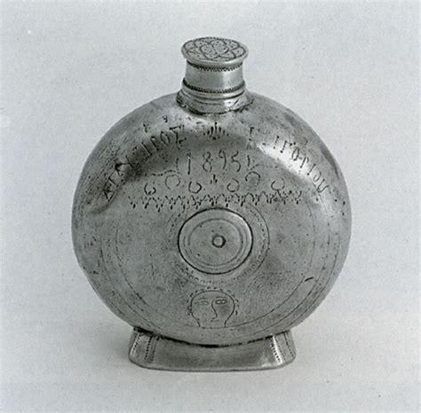 Handmade Pewter Flask - pewter flask italian handmade highest quality pewter