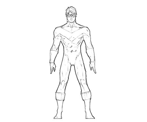 nightwing arkham coloring pages coloring pages