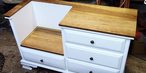 turn a dresser into a bench turn a dresser into storage bench bestdressers 2017
