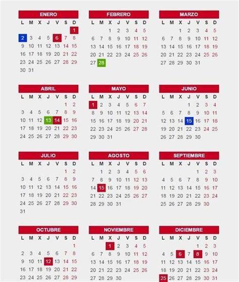 Calendario Oficial De Dias Festivos 2017 Calendario Laboral Andaluc 237 A 2017 Definanzas