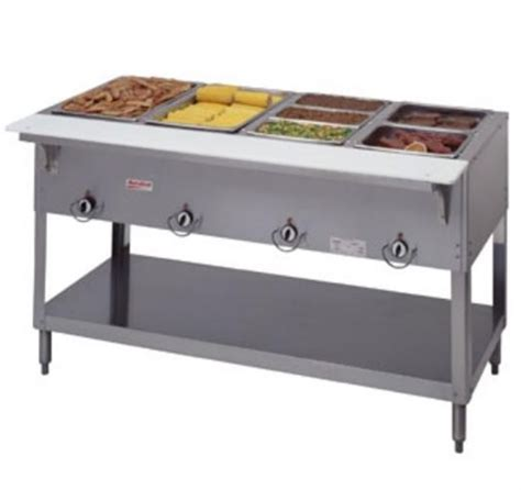 small propane steam table duke manufacturing steamtable 4 pan l p gas 304 p