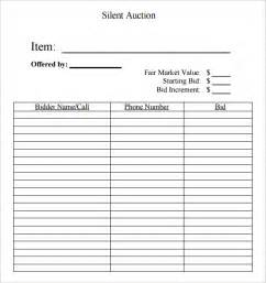 silent auction catalog template 6 silent auction bid sheet templates formats exles