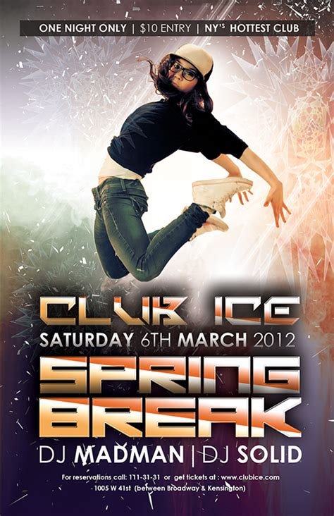 free club flyer templates for photoshop psd