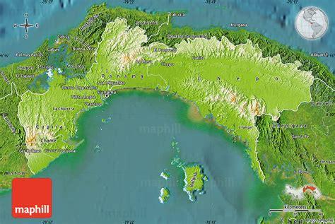 physical map of panama physical map of panama satellite outside