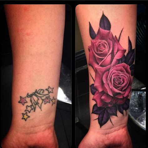 rose tattoo cover up ideas cover up tattoos tattoos