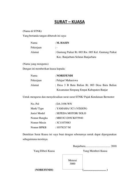 Contoh Surat Kuasa Ke Bank Bni - Download Kumpulan Gambar