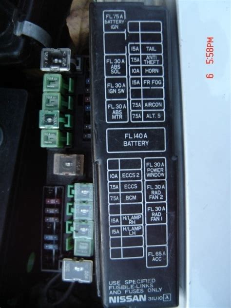 2001 nissan altima fuse box fuse box and wiring diagram