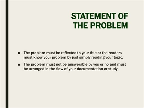 statement of the problem for thesis thesis format