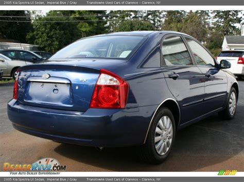 Kia Spectra New 2005 Kia Spectra Lx Sedan Imperial Blue Gray Photo 2