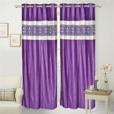 silver and purple curtains buy purple silver printed window curtain online in india