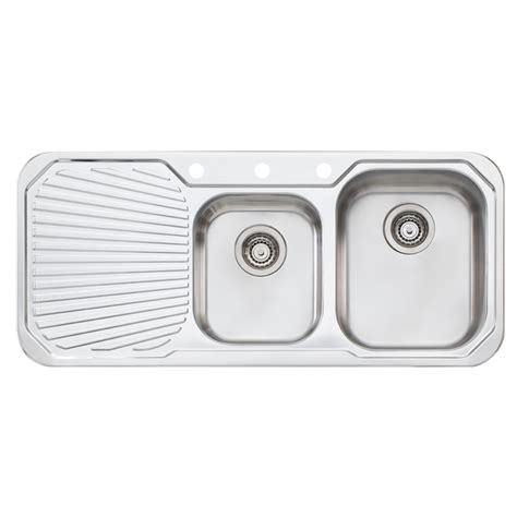 sonetto sinks vetro double bowl topmount sink with black