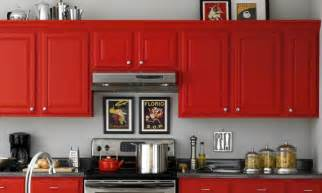 painting kitchen cabinets red ideas and pictures of kitchen paint colors