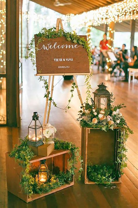 rustic wooden crates wedding ideas wedding reception