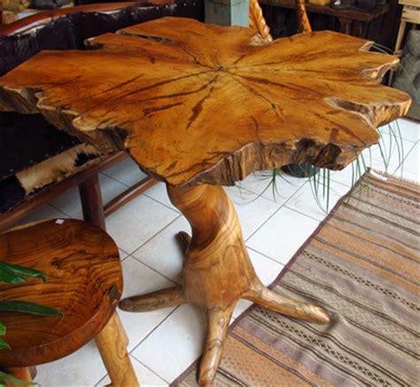 tree root table teak tree trunk bistro tableimpact imports