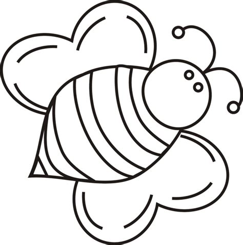cartoon bee coloring page cliparts co