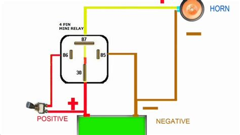 3 terminal horn relay wiring diagram 3 free engine image