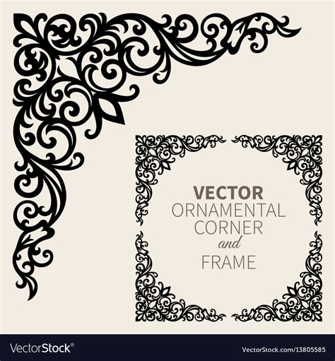 royalty free vector ornamental with 343155995 stock ornamental corner frame royalty free vector image