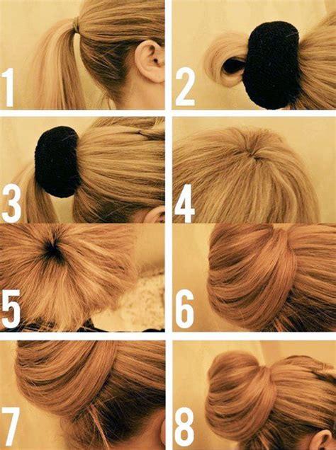 how to make easy hairstyles for eid comment faire chignon avec donut un boudin ou d 233 coiff 233