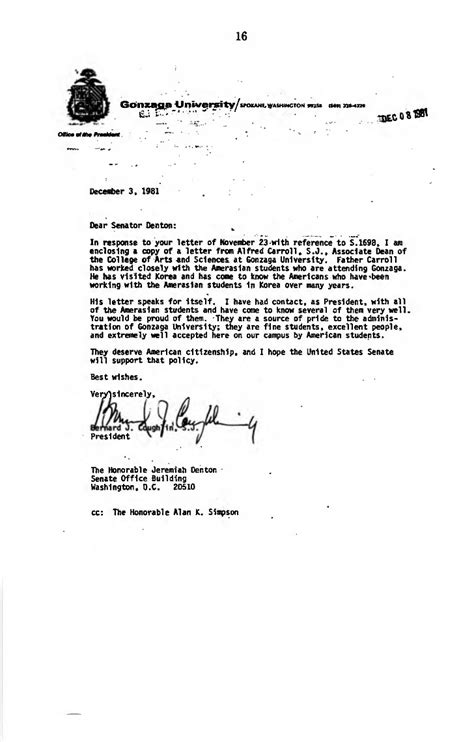 Immigration Reference Letter Married Amerasian Immigration Proposals June 21 1982