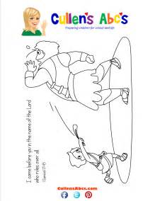 bible memory verse coloring page david and goliath