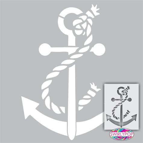 painting templates stencils anchor wall stencil 12 quot x9 quot nautical coastal craft
