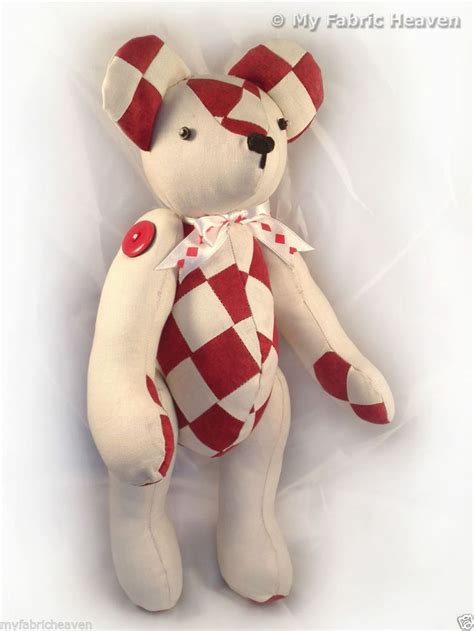 Free Patchwork Teddy Pattern - harley patchwork 14 quot teddy sewing pattern easy to