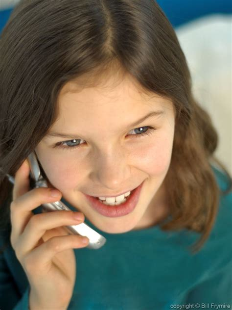 index of tween tween talking on a cell phone