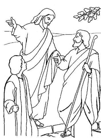 road to emmaus coloring page - Google Search | Bible