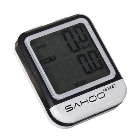 Sahoo Speedometer Sepeda Lcd Waterproof sahoo bike lcd computer waterproof bicycle odometer