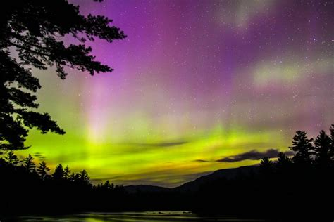 northern lights in maine at neoc new outdoor center