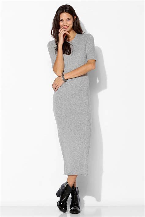 Vila Knitted Rib Maxi Dress just tomoko rib knit maxi dress in gray lyst