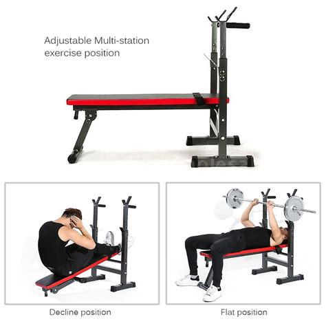 flat exercise bench tomshoo adjustable folding weight lifting flat incline