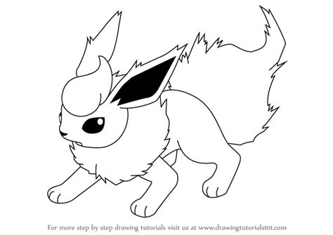 flareon coloring pages printable flareon best free
