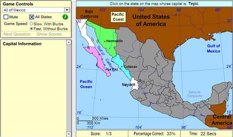 map of mexico and capitals interactive map of mexico capitals of mexico beginner