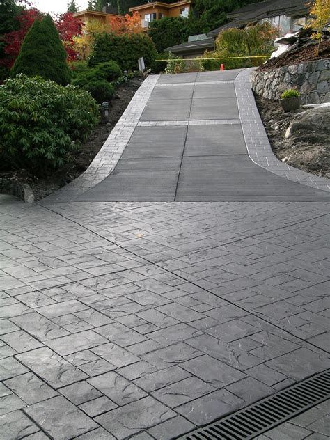sted concrete driveway in brick pattern stedconcrete driveway stamped concrete