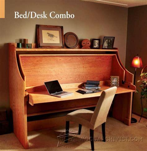 bed desk combo woodarchivist