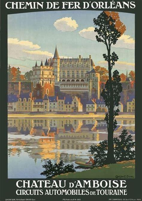 chateau d amboise poster zazzle t31 vintage 1920 s chateau d amboise travel