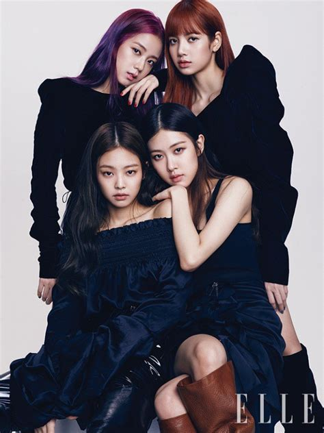 blackpink ideal type black pink look gorgeous in elle korea pictorial
