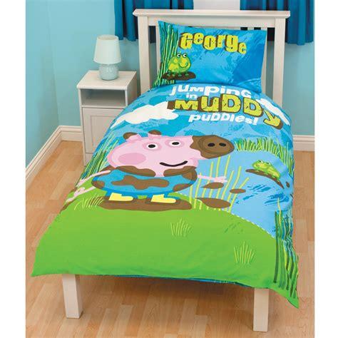Peppa Pig George Duvet Set Peppa Pig George Puddles Duvet Cover Free P P Ebay