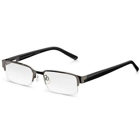 buy read optics mens carbon black supra half frame