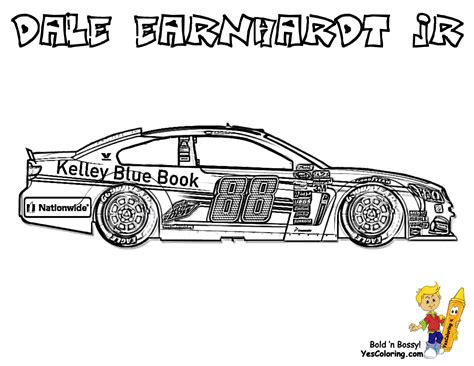 Glorious Car Coloring Pages Cars Porsche Corvette Nascar Coloring Page
