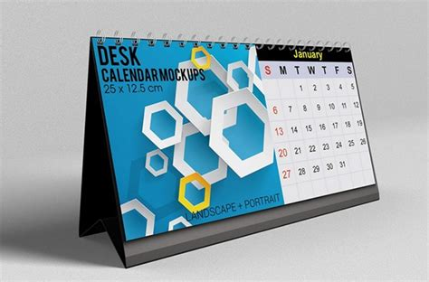 design kalender poster desk calendar mockups on behance