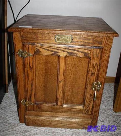 white clad oak furniture white clad box furniture end table reprod ammo