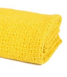 jet 233 de canap 233 couvre lit jaune 100 coton plaid addict