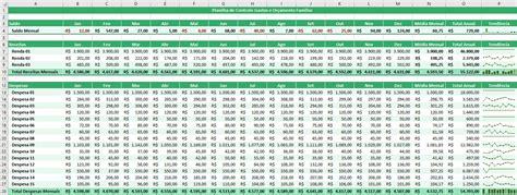 como fazer um planilha de gastos  despesas mensais