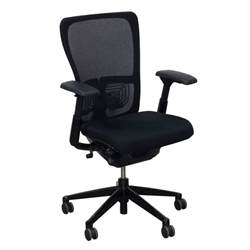 haworth zody mesh back used task chair black national
